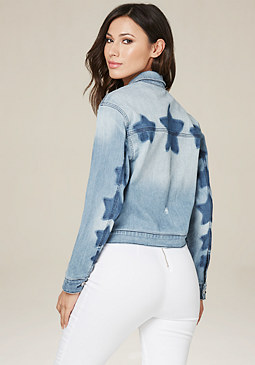 bebe Star Wash Denim Jacket