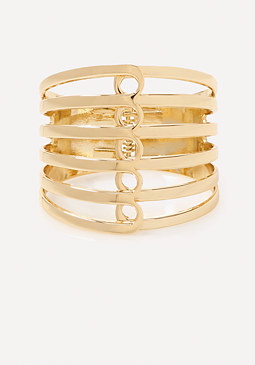 bebe Loop Bar Hinge Cuff