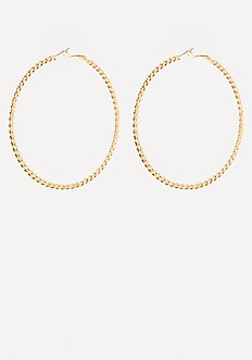 Snake Chain Hoop Earrings