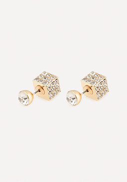 bebe Stud & Cube Earrings