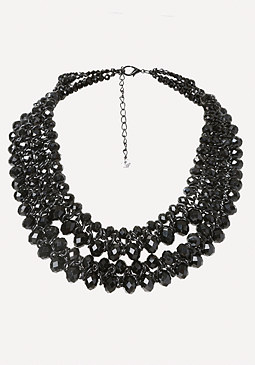bebe Beaded Statement Necklace
