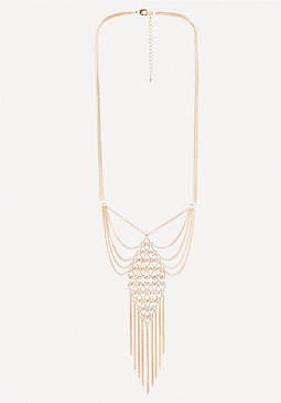 bebe Fringe Pendant Necklace