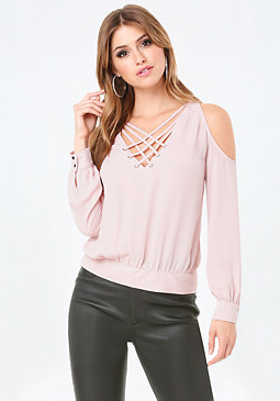bebe Alesandra Shoulder Blouse