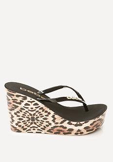 Leopard High Flip Flops