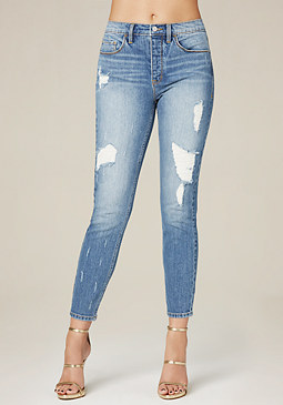 Relaxed High Rise Jeans at bebe