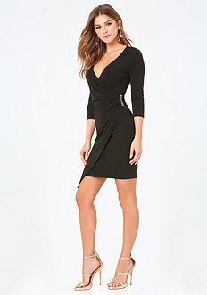 Avery Faux Wrap Dress