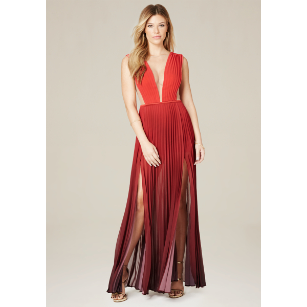Ombre Pleated Gown | bebe