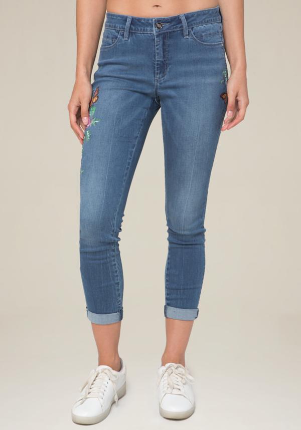 Embroidered Skinny Jeans at bebe in Sherman Oaks, CA | Tuggl