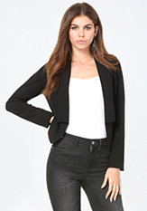 bebe Stretch Crepe Jacket