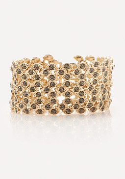 bebe Ornate Crystal Bracelet