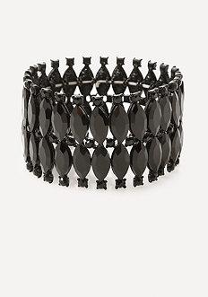 Edgy Black Stretch Bracelet