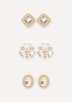 Crystal Cluster Earring Set