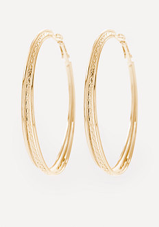 3-Row Hoop Earrings