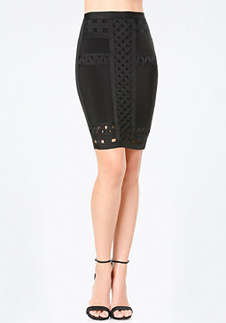 bebe Open Detail Sweater Skirt