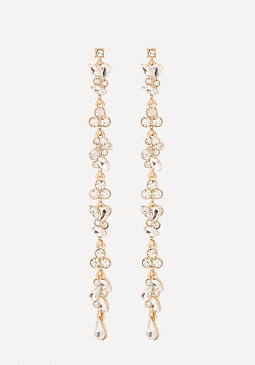 bebe Cascading Crystal Earrings