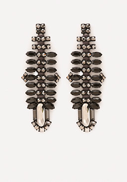 bebe Crystal Armor Earrings