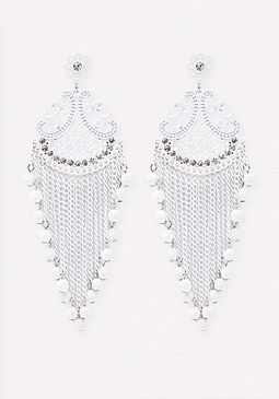 bebe Scroll Statement Earrings
