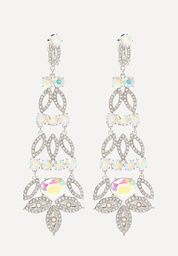 bebe Glam Crystal Long Earrings