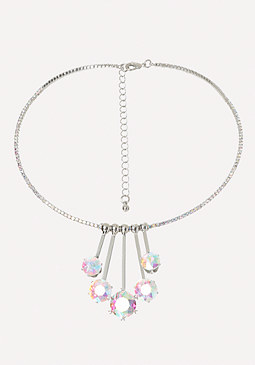 bebe 5-Drop Collar Necklace