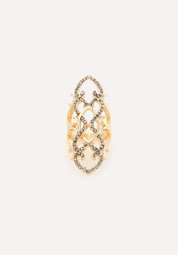 bebe Fancy Crystal Cocktail Ring