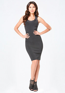 bebe Strappy Ribbed Dress