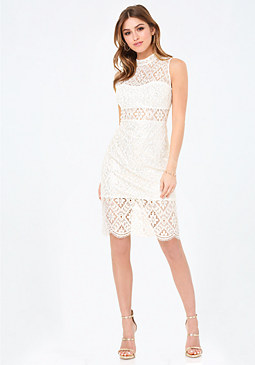 bebe Teagan Lace Dress