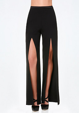 bebe Slit Flared Pants