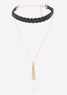 Braided Faux Leather Choker
