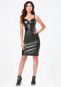 Apple Faux Leather Dress