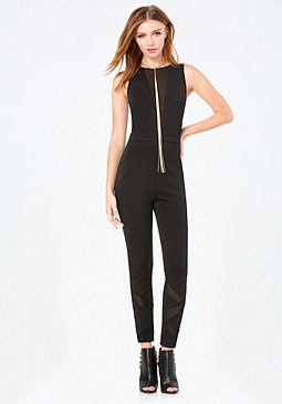 bebe Illusion Insets Jumpsuit