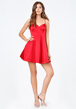 bebe Satin Sweetheart Dress