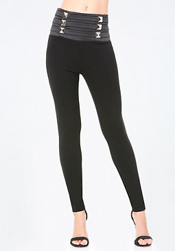 bebe Petite Jane High Leggings