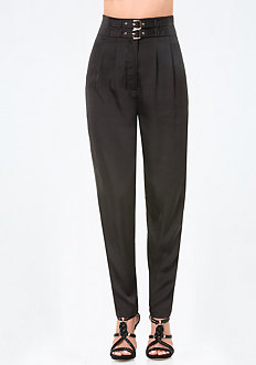 Petite Buckle High Pants