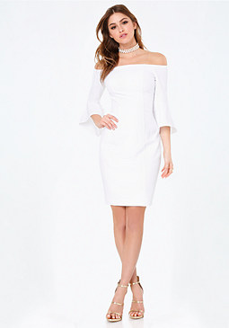 bebe Sarah Off Shoulder Dress