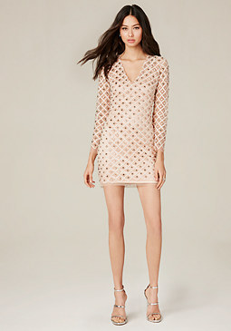 bebe Rachel Embroidered Dress