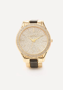 bebe Enamel Boyfriend Watch