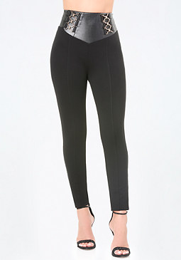 bebe T-Hook High Yoke Leggings