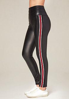 Racing Stripe Tux Leggings