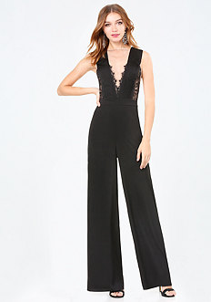 Lace Deep V Jumpsuit