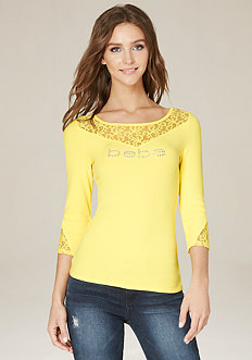 Logo Maddy Lace Inset Top