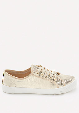 bebe Dane Metallic Sneakers