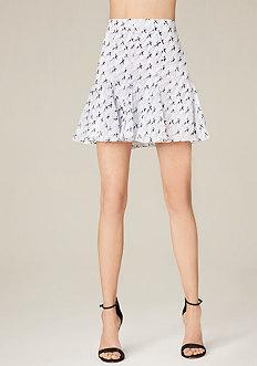 Print Godet Miniskirt