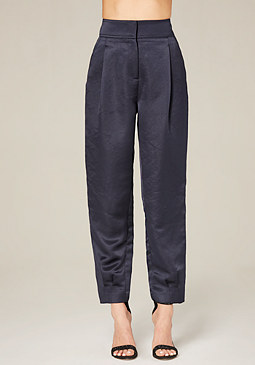 bebe Pleated Satin Pants