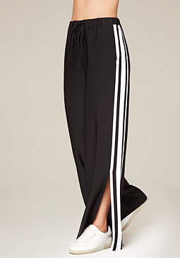 bebe Ankle Slit Track Pants