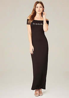 Logo Shoulder Maxi Dress