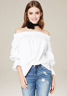Shirred Ruffle Top