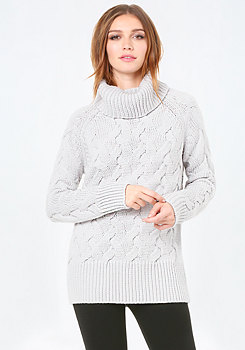 bebe Cable Turtleneck Sweater