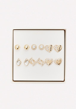 bebe Logo Princess Earring Set