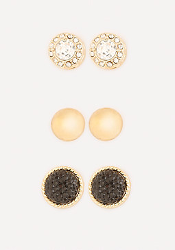 bebe Mix Media Earring Set