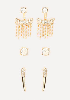 Glittering Earring Set